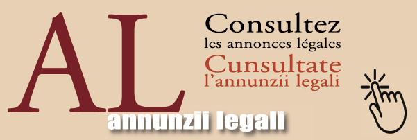 Cunsultate l'annunzii legali